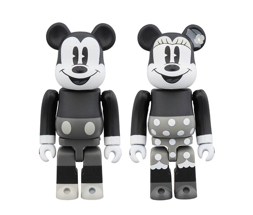 【メディコムトイ】BE@RBRICK MICKEY MOUSE & MINNIE MOUSE(B&W Ver.) 2PACK